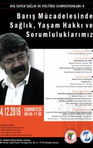ATA SOYER SAĞLIK VE POLİTİKA SEMPOZYUMLARI-4