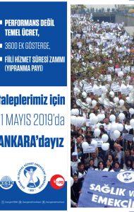 TALEPLERİMİZ İÇİN 11 MAYIS'DA ANKARA'DAYIZ
